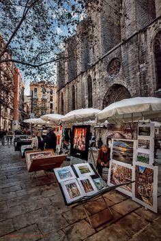 Pi Pintors - pintors a la plaça del Pi, Barcelona by Jimbos Padró