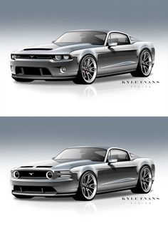 Kyle Evan's concept Mustang. Check out Facebook and Instagram: @metalroadstudio Very cool!