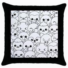 Kawaii Animals - Throw Pillow Case - One Size
