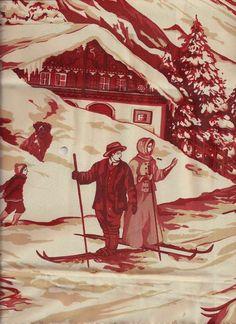 gorgeous red ski toile