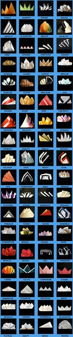 to fold a pocket square - 72 ways | Raddest Men's Fashion Visit www.TheLaFashion.com for more Fashion insights and tips.