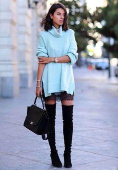 annabelle fleur slip dress over the knee street style