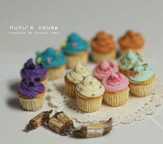 *アメリカン・カップケーキ* - *Nunu's HouseのミニチュアBlog* 1/12サイズのミニチュアの食べ物、雑貨などの制作blogです。