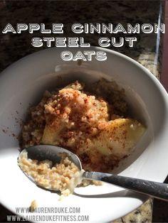 Apple cinnamon Steel Cut Oats - Like Apple Pie for Breakfast! #21dfx