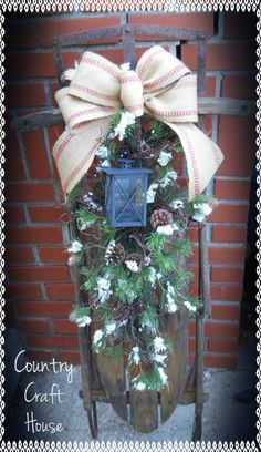 Antique Sled: Follow my fb blog for more great ideas!