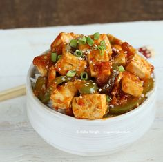 Spicy Vegan Orange Tofu and Peppers and a Giveaway. Glutenfree Recipe - Vegan Richa