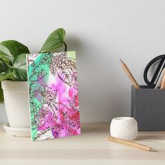 The Sparkle in My Garden Art Board by Polka Dot Studio, A composite of a hand painted floral with a photographic rose • Also buy this artwork on wall prints, apparel, stickers, tech cases, home decor and more.