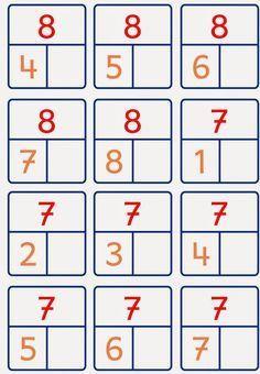 Risultati immagini per Zahlzerlegung 10 Montessori Math, Homeschool Math, Kindergarten Math, Teaching Math, Math Worksheets, Math Activities, Act Math, Math Addition, Math Numbers