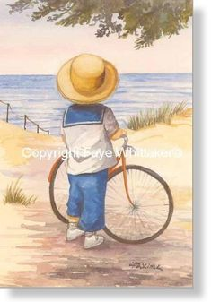 Small Prints - Faye Whittaker Arts, All Our Yesterdays Cross Stitch and Original Art Wesbsite Beach Painting, Cool Art Drawings, Watercolor Paintings, Painting, Canvas Art, Beach Art, Canvas Art Painting, Canvas Painting, Prints