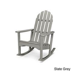 Classic Polywood Adirondack Rocker (Slate Grey), Size Single, Patio Furniture (Plastic)