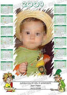 Personalize sua Arte: Lembrança - Calendário com Imã - Sítio do Pica Pau...