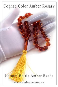 Amber islamic rosary with soil inclusions in muslim 33 round beads Rosary Beads, Prayer Beads, Amber Beads, Baltic Amber, Round Beads, Muslim, Tassel Necklace, Islamic, Carving