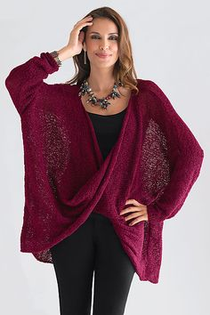 Long Sleeve Twist Front Sweater