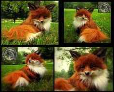 HAND MADE! Poseable Baby Fox! by Wood-Splitter-Le