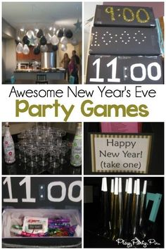 Some of the best New Year's Eve party games including awesome countdown boxes you can make and fill with games, goodies, and prizes for each hour!