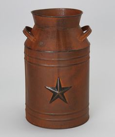 Take a look at this Brown Star Milk Can by Craft Outlet on #zulily today!