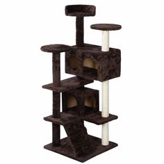 Cat Tree Tower For Multiple Cats With Paw Prints