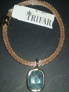 Trifari gold and gemstone bracelet