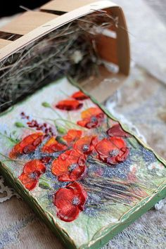 """Картины цветов ручной работы. Ярмарка Мастеров - ручная работа. Купить панно """"Сочные маки"""". Handmade. Декоративное панно, цветы"""
