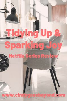 Tidying Up & Sparking Joy - Cindy Goes Beyond Tidying Up with Marie Kondo Netflix Series Marie Kondo Spark Joy Netflix Series, Tv Series, Marie Kondo, Konmari, Tidy Up, House Made, Trending Topics, Declutter, Christmas Lights