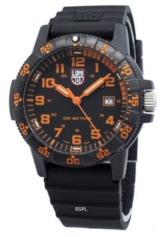 online shopping for Luminox LeatherBack Sea Turtle Giant 0329 from top store. See new offer for Luminox LeatherBack Sea Turtle Giant 0329 Giant Sea Turtle, Best Watches For Men, Black Stainless Steel, Casio Watch, Surf, Quartz, Leather, Markers, Orange