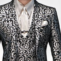 I think it would look great with a solid jacket and the vest, or the jacket with a solid vest.