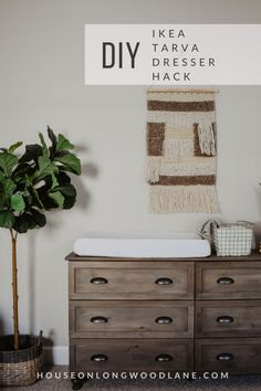 DIY IKEA Tarva Dresser Hack, IKEA Hack, Dresser Changing Table