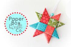 Inside The Paper Box: Star Ornament Tutorial (fabric folding)