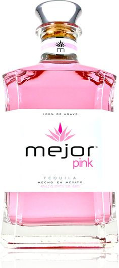 Mejor Pink Tequila #tequila #mexicanfood #latinculture