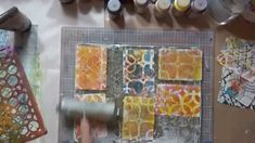 #lovesummerart DecoArts fluid acrylics & monoprinting on playing cards
