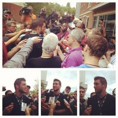Tebow arrives at Jets training camp.