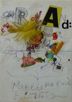 Jean Tinguely  (Swiss, 1925-1991.)  Salut, Merci, Bonjour.   Mixed media and…
