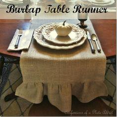 Diy Burlap Table Runner