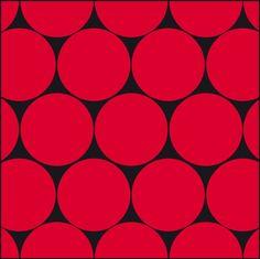 Bolas vermelha - 15,4 x 15,4 - designer Carine Canavesi. Vendidos em caixa com 50 unidades, cobrem pouco mais de 1 metro2.