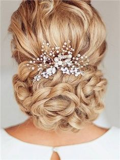 Amazon.com : Venusvi Silvery Wedding Hair Combs with Bead and Rhinestones - Bridal Headpiece for Bridesmaids(silver(silvery) : Beauty