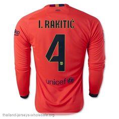 Thailand Barcelonal  4 I.RAKITIC 14 15 Away Long Sleeve soccer jersey f8ddf3b9002
