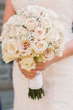 Beautiful bouquet for a blue and blush wedding Sahara Roses; not too pink, not too champagne www.novamarkina.com