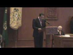 """SMGE ESTADO DE MÉXICO.- 16.01.2014. Sesión Académica Solemne de Ingreso; """"Humanismo y Universidad"""", Dr. en D. Jorge Olvera García, Rector de la Universidad Autónoma del Estado de México."""