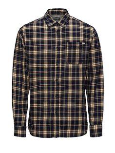 JACK & JONES VINTAGE CLOTHING - Lässiges Hemd von VINTAGE - Slim fit - Standardkragen - Brusttasche - Weiche Twill-Qualität - Das Modell trägt Größe L und ist 187 cm groß 100% Baumwolle...