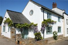 3 bedroom semi-detached house for sale in Moon Cottage, Eype, Bridport, Dorset - Rightmove. Cottage Paint Colors, House Colors, Cottage Interiors, Cottage Homes, Bedroom Interiors, Cottages Uk, Country Cottages, Rendered Houses, Cornish Cottage
