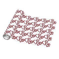 Entwined Hearts Design Wrapping Paper