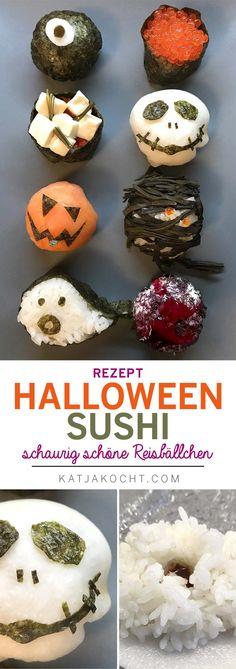 http://katjakocht.com/2017/10/28/halloween-sushi/ #HalloweenFood #halloween #scaryfood #sushi