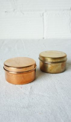 Brass and Copper Containers
