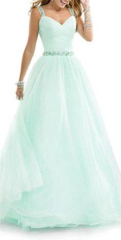 2016 New Arrival  Mint Green  Prom Dress,Spaghetti Straps Beaded Evening Dress,Sexy Sweetheart Prom Dress
