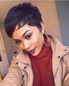 """2,044 Likes, 6 Comments - VoiceOfHair (Stylists/Styles) (@voiceofhair) on Instagram: """"Love this pixie styled by #HoustonSylist @manecouture_ ✂❤ ... #protectivestyle #houstonhair #wigs…"""""""