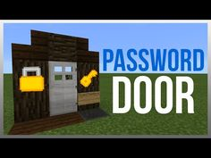 MCPE 0.14.0: Redstone Tutorial - Simplest Password Door! (WORKS ON PC) - YouTube