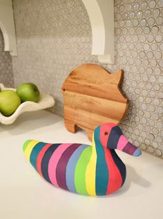 Duck! | Young House Love - what a simple  project to add a pop of colour to any room!