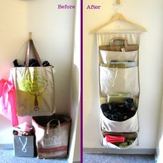 How To Make a Coat Hanger Bag Organizer Easy Sewing Project | Apartment Therapy