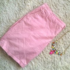 Pink shorts So pretty! They're light pink shorts. They have pockets at the hips and on the back. 98% cotton and 2% spandex. Liz Claiborne Shorts