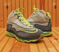2011 Nike Air Max Griffey Jr Size 8.5 -  Grey Volt Yellow White - 442478 001